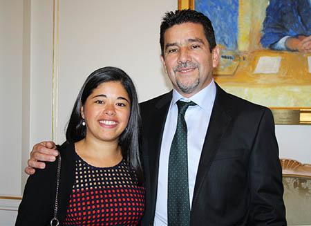 Marco Venega y Michelle